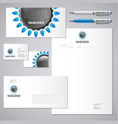 gas industrial logo and identity vector image