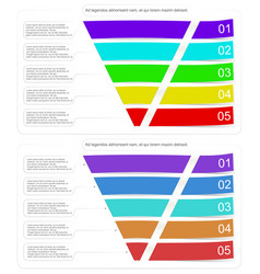 Modern style infographic funnel vector
