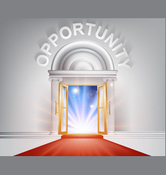 opportunity red carpet door vector image