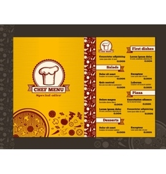 Restaurant menu design template mockup vector image vector image