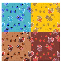 Set of patterns for childrens themes vector