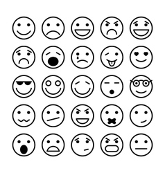 Smiley faces elements for website design vector image vector image