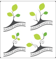Abstract set of trees vector image