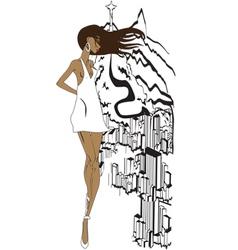 Brazilian girl sketch vector image vector image