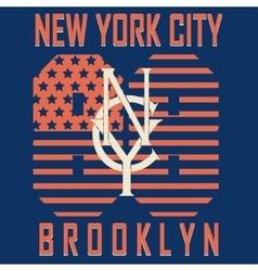 Brooklyn original sportwear t-shirt vector image
