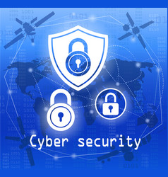 cyber security vector image vector image