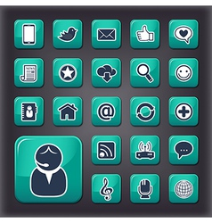 Internet communication universal buttons vector image vector image