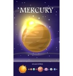 Mercury Planet Sun System Universe vector image vector image