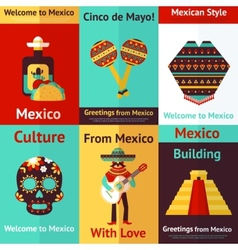 Mexico retro poster vector image