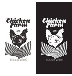 set of logos with chicken vector image vector image