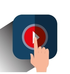 video movie play vector image vector image