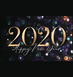 2020 happy new year background with gold numbers vector image