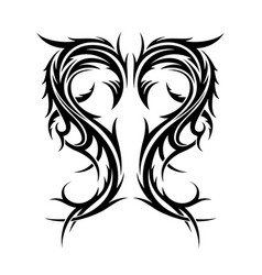 Abstract hand drawn tribal tattoo vector