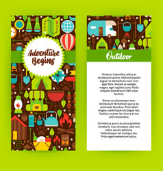 Adventure begins flyer template vector