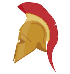 Ancient helmet vector image