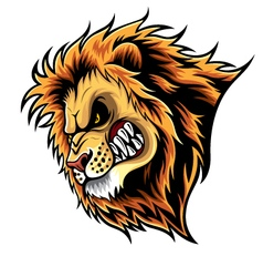 Angry Lion Head vector image