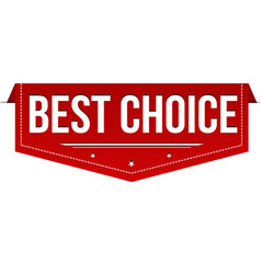best choice banner design vector image