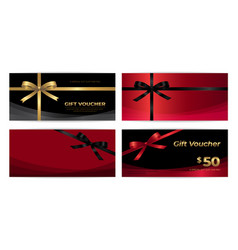 black friday sales gift voucher or banner vector image