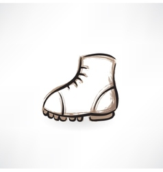 boot grunge icon vector image vector image