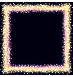Bright Frame with Sparkles and Flares vector image vector image
