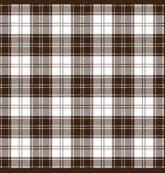brown and white tartan plaid seamless pattern vector image