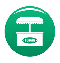Burger selling icon green vector