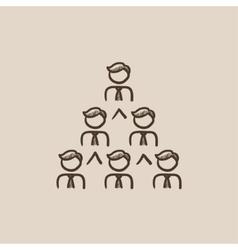 Business pyramid sketch icon vector