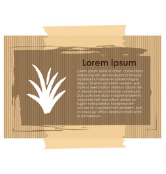 Card template with grass and text vector