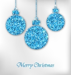 Christmas Balls with Sparkle Surface vector