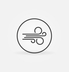 circle with wind linear concept icon vector image