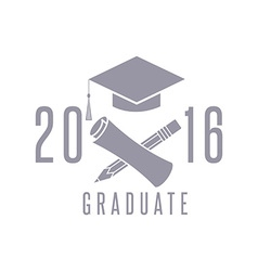 Class 2016 graduation celebration poster design vector