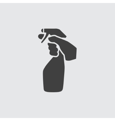 Cleaning bottle icon vector image