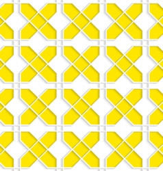 Colored 3D yellow crosses vector
