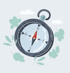 Compass on white background vector