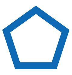 Contour pentagon flat icon vector