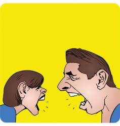 couple yelling vector image vector image