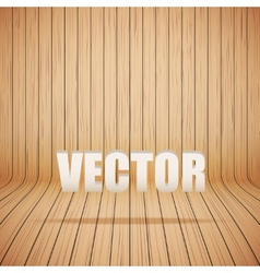 Curved wooden background interior vector