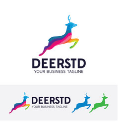 deer studio logo design vector image