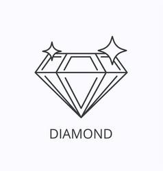 diamond thin line icon success concept outline vector image