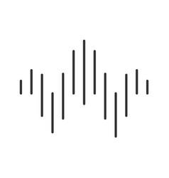 Dj sound wave glyph icon silhouette symbol vector