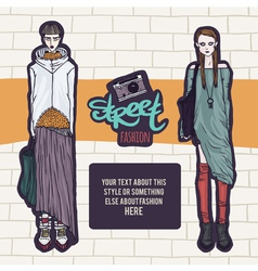 Double street fashion look vector image