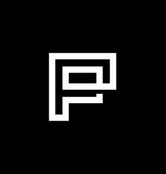 elegant modern black and white color letter p vector image