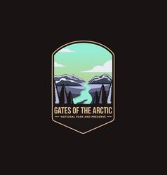 emblem logo gates arctic national park vector image