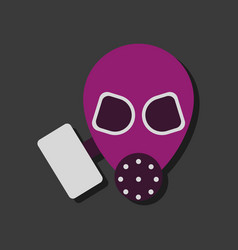 Flat icon design collection military gas mask vector