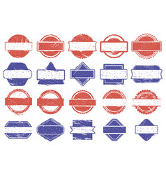 frame stamps grunge texture discount badges vector image