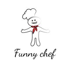 Funny chef symbols vector
