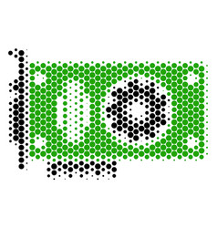 Halftone dot video gpu card icon vector