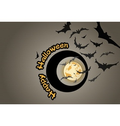 Halloween background with bats vector image
