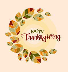 happy thanksgiving background poster with vector image vector image