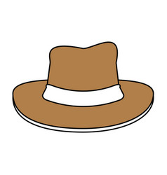hat cartoon silhouette vector image